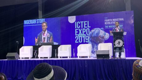 Uwem speaking at ICTEL Expo 2019